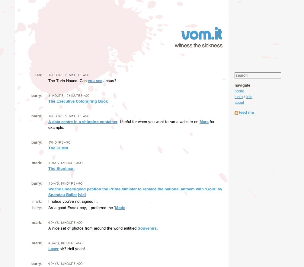 Screenshot of vom.it